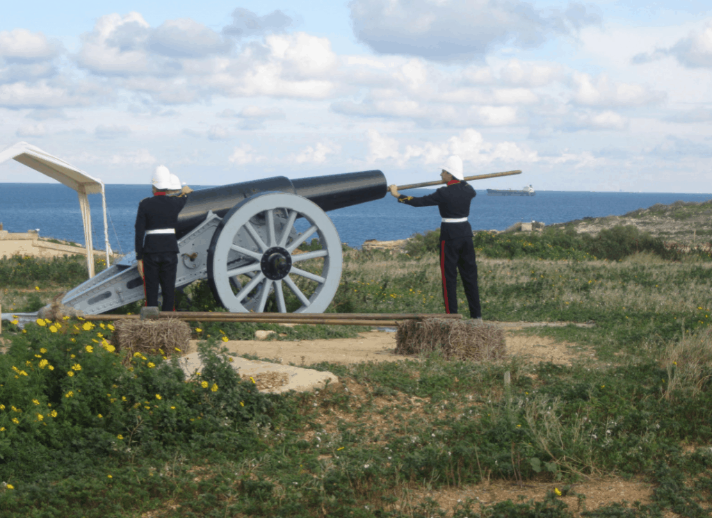 Fort Rinella re-enactment