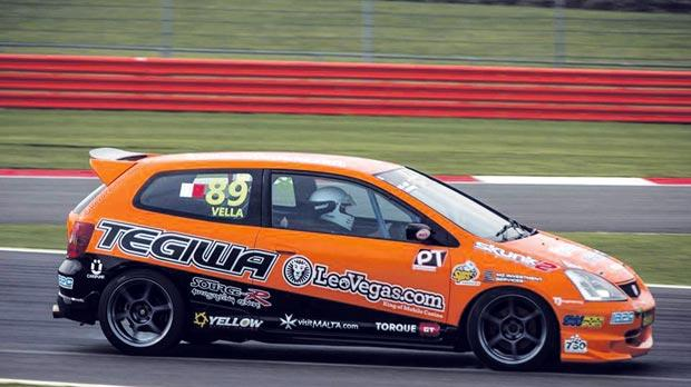 Rodren Vella on his way to finishing fifth at Silverstone Circuit last month. Photo: Chris Withington